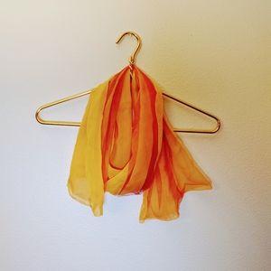 Accessories - Light weight Orange & Yellow mesh scarf